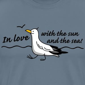 In love (b) T-shirts - Herre premium T-shirt