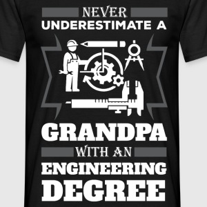 Never Underestimate A Grandpa With An Engineering  T-Shirts - Men's T-Shirt