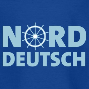 Royalblau norddeutsch_steuerrad_2c Kinder T-Shirts - Teenager T-Shirt