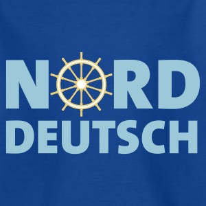 Royalblau norddeutsch_steuerrad_3c Kinder T-Shirts - Teenager T-Shirt