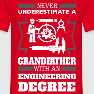 Never Underestimate A Grandfather With An Enginee T-Shirts - Men's T-Shirt