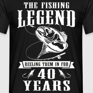 The Fishing Legend Reeling Them In For 40 Years T-Shirts - Men's T-Shirt