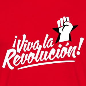 Rød revolution fist T-shirts - Herre-T-shirt