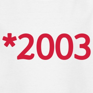 Weiß 2003 Kinder T-Shirts - Teenager T-Shirt