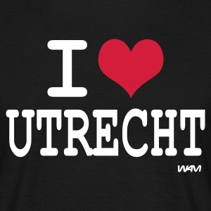 Zwart i love utrecht by wam T-shirts - Mannen T-shirt