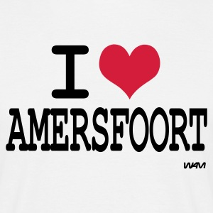 Wit i love amersfoort by wam T-shirts - Mannen T-shirt