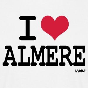 Wit i love almere by wam T-shirts - Mannen T-shirt