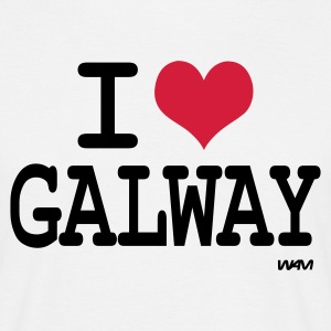 White i love galway by wam Men's T-Shirts - Men's T-Shirt