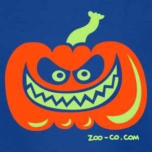 Navy Crazy Pumpkin Kids' Shirts - Teenage T-shirt