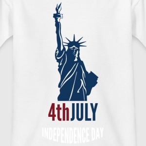 4th July Independence Day with Statue of Liberty T-Shirts - Kinder T-Shirt