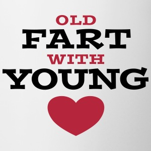 Old Fart With Young Heart Tassen & Zubehör - Tasse
