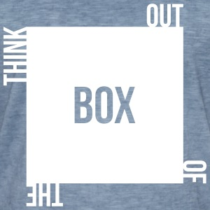 think out of the box kreativ unkonventilell anders T-Shirts - Männer Vintage T-Shirt