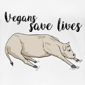 Vegans save lives T-Shirts - Women's Premium T-Shirt
