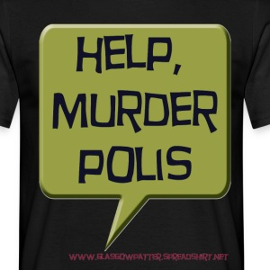 Black helpmurderpolis Men's T-Shirts - Men's T-Shirt