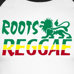 Blanc/noir roots reggae T-shirts manches longues - T-shirt baseball manches longues Homme
