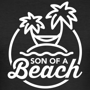 Son of a beach T-shirts - Slim Fit T-shirt herr