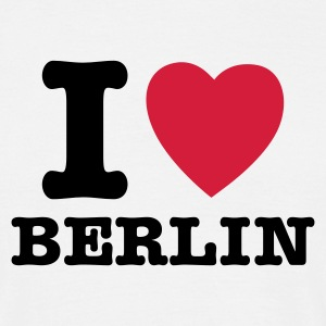White I Love Berlin - I Heart Berlin Men's T-Shirts - Men's T-Shirt