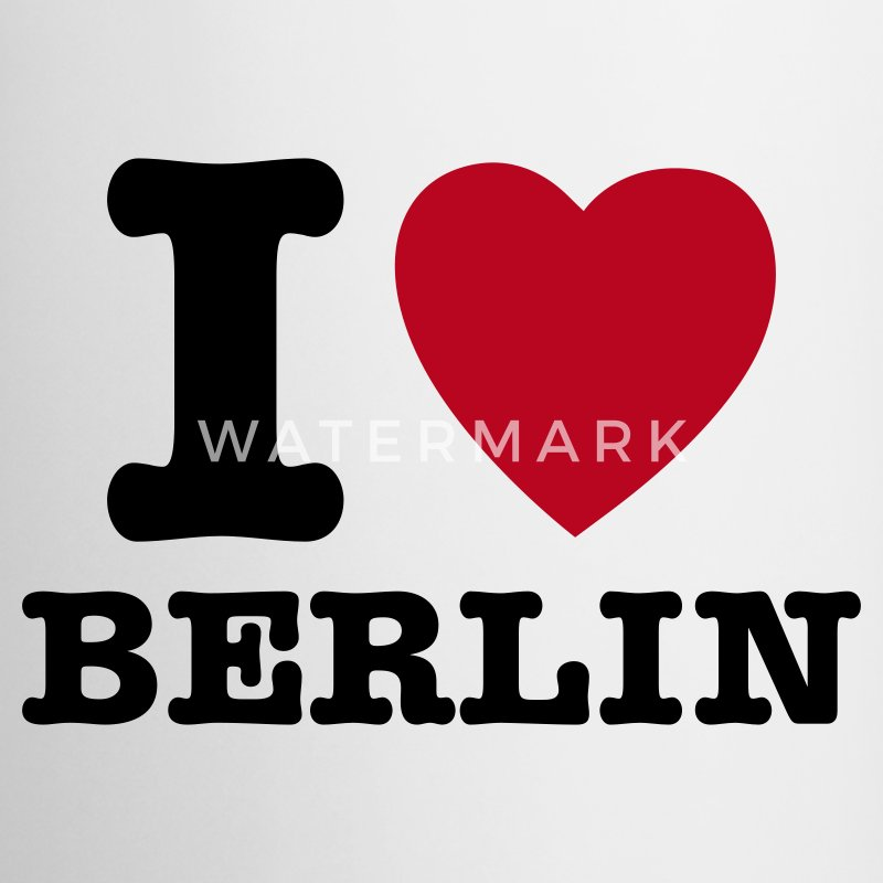 Wit I Love Berlin - I Heart Berlin Mokken - Mok