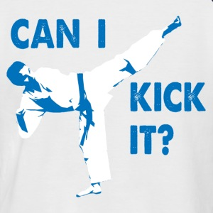 Can I Kick It (blue) Baseball T-Shirt - Men's Baseball T-Shirt