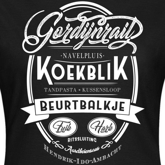 Gordijnrails vrouwen t-shirt