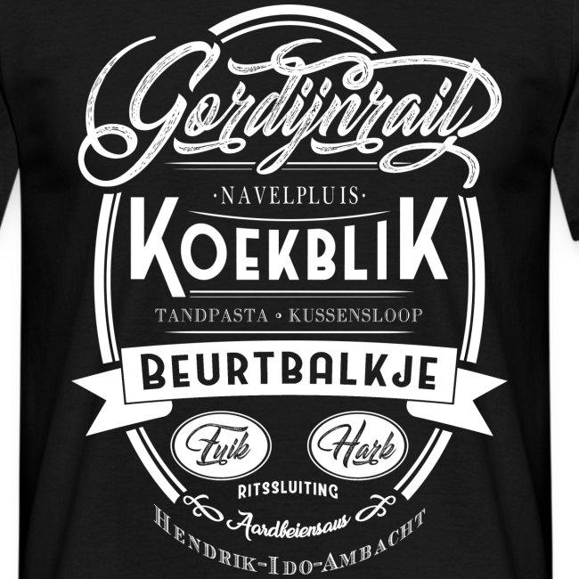 Gordijnrails mannen t-shirt