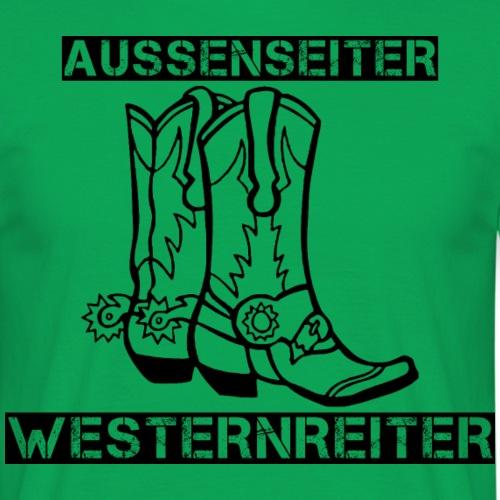 Außenseiter Westernreiter -black/white