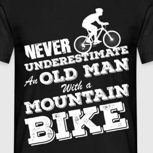 Old Man With Mountainbike T-Shirts - Männer T-Shirt