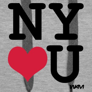 Heather grey new york loves you by wam Jumpers  - Women's Premium Hoodie