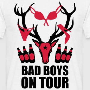 Hirsch mit Beute Bad Boys on Tour JGA T-Shirt - Männer T-Shirt