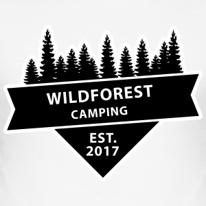 Wildforest Camping Logo T-Shirts - Men's Slim Fit T-Shirt