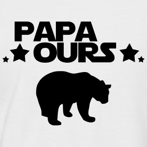 papa ours Tee shirts - T-shirt baseball manches courtes Homme