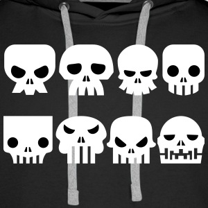 Cartoon Skulls Hoodies & Sweatshirts - Men's Premium Hoodie