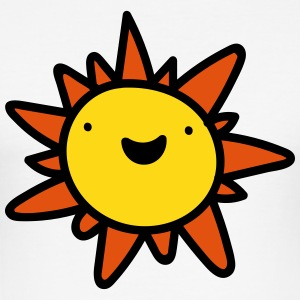 Happy Sun Emoticon T-Shirts - Men's Slim Fit T-Shirt