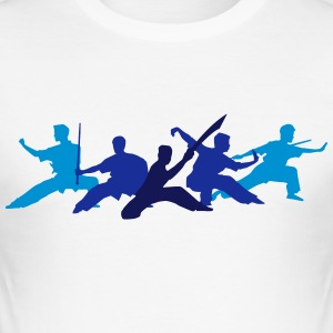 Wushu Fighters T-Shirts - Men's Slim Fit T-Shirt