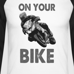 On Your Bike Long Sleeve Baseball T-Shirt - Men's Long Sleeve Baseball T-Shirt