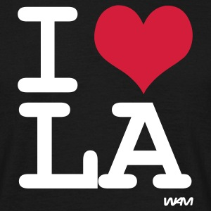 Black I LOVE LA - los angeles by wam Men's T-Shirts - Men's T-Shirt