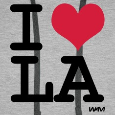 Heather grey I LOVE LA - los angeles by wam Jumpers