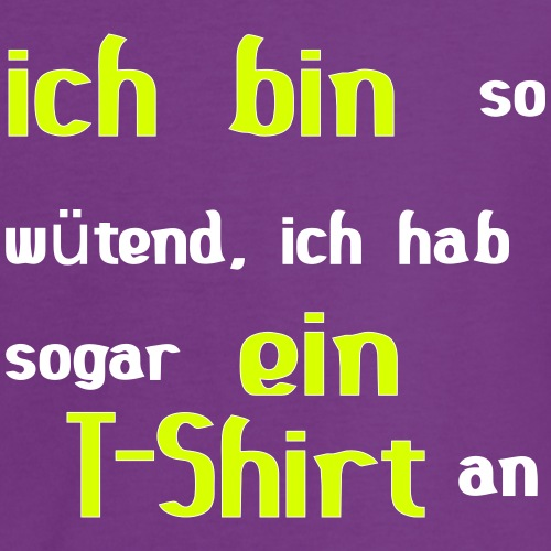 wütendes T-Shirt