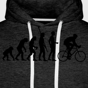 evolution_radfahrer Sweat-shirts - Sweat-shirt à capuche Premium pour hommes