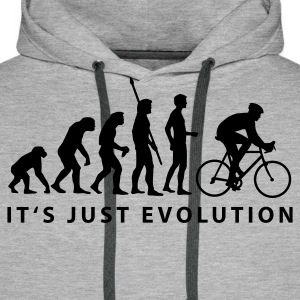 Heather grey biker evolution Hoodies & Sweatshirts - Men's Premium Hoodie