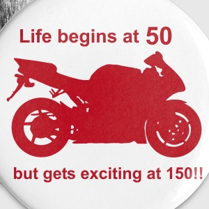 Life begins at 50 Buttons - Buttons large 56 mm