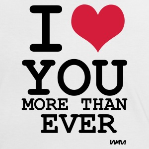 Wit/zwart I love you more than ever by wam T-shirts - Vrouwen contrastshirt