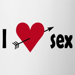 Hvit I love sex NO Kopper - Kopp