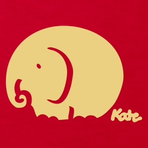 Red elephant (c) Kids' Shirts - Kids' Organic T-shirt