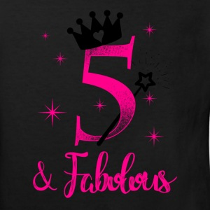 five and fabolous birthday child kid gift Shirts - Kids' Organic T-shirt