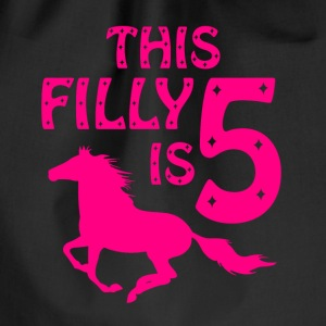 the filly is five Bags & Backpacks - Drawstring Bag