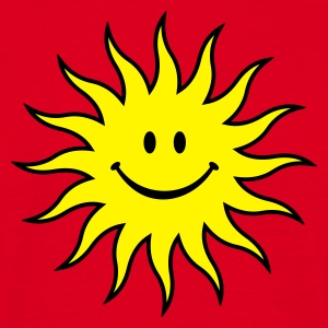 Smiley Solen - Herre-T-shirt