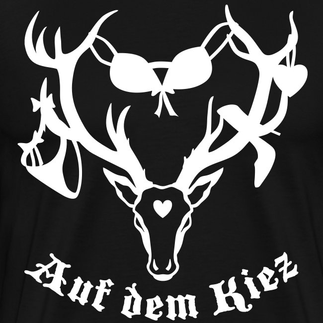 Hirsch auf dem Kiez Hamburger T-Shirt schwarz