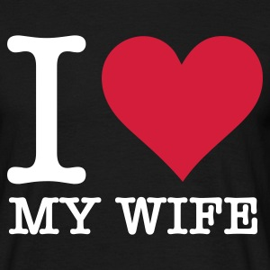 Svart I Love Wife (2c, NEU) T-skjorter - T-skjorte for menn