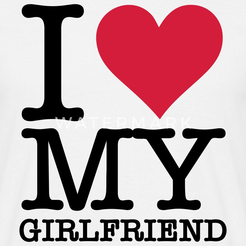 Blanco I Love My Girlfriend (2c, NEU) Camisetas - Camiseta hombre